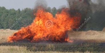 burn down haystack